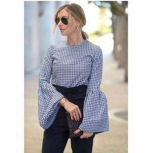 Who What Wear Gingham Top